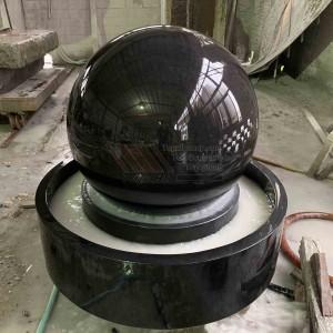 Black Granite Sphere Fountain TASBF-011