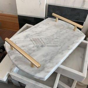 Nature Carrara white marble hotel serving trays TASC-002