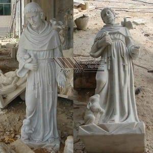 St Francis Marble Statue TPAS-003
