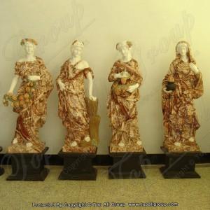 "72"" life size four season marble garden sculpture TPFSS-007"