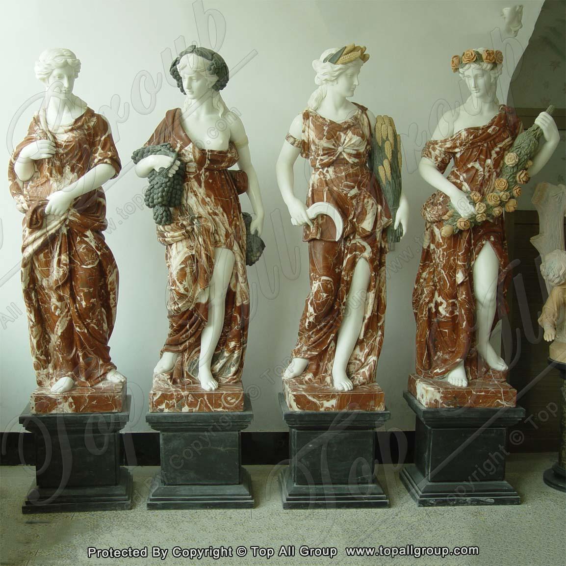 72'' life size marble foure season sculpture