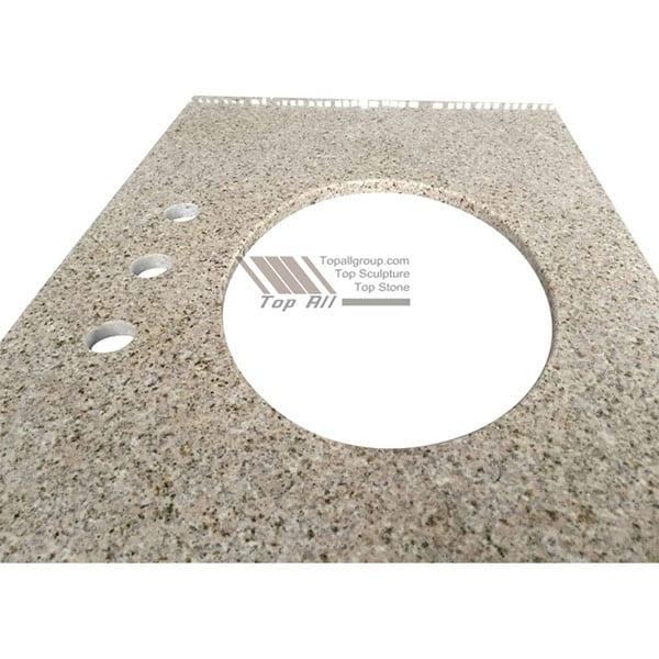 Chinese Professional Marble Pillar - Rust Yellow Granite countertop Vanity Top – Top All Group