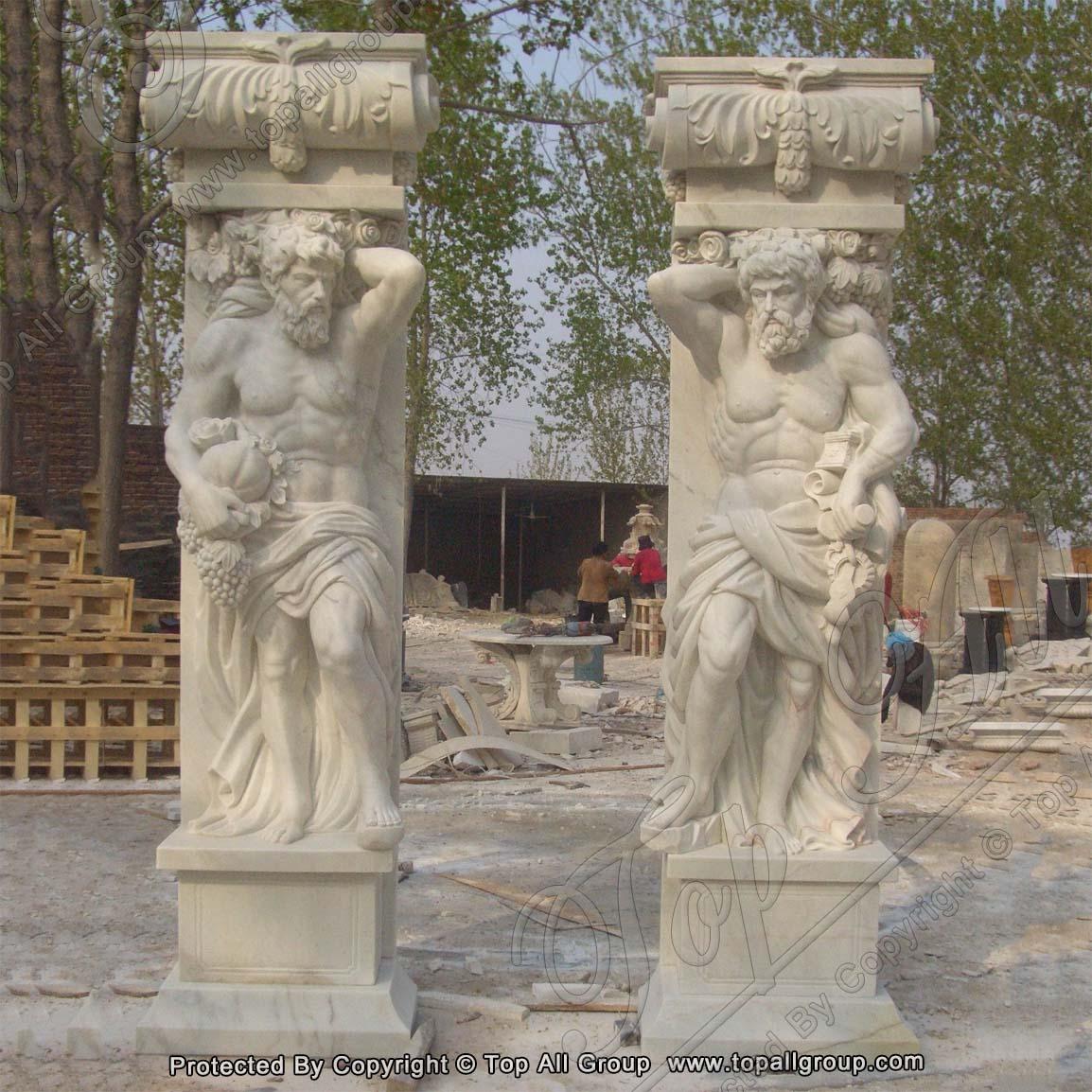 Ancient Roman marble pillars