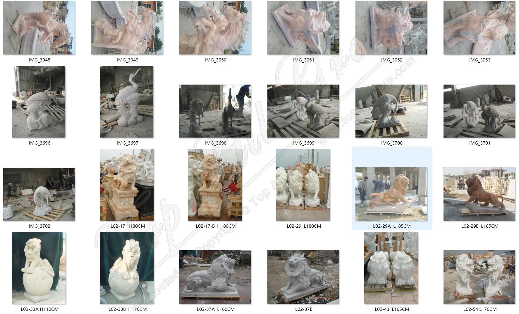 Animal marble statue1