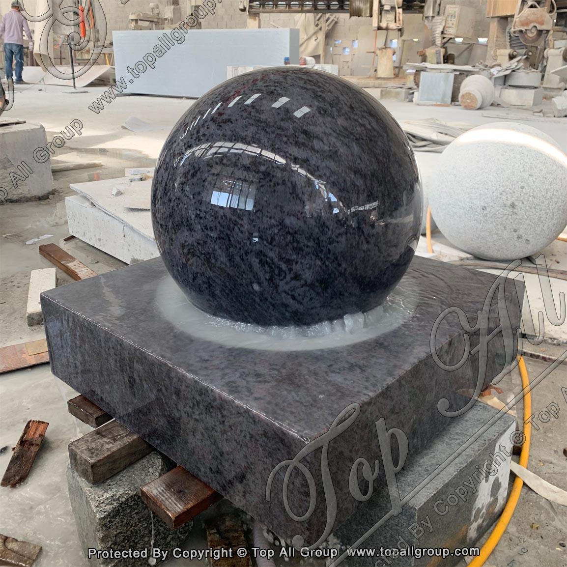 Bahama Blue Granite Ball Fountain