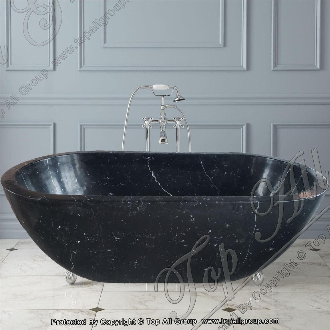 Black Marble Free Standing Bathtub