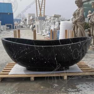 Black Marble Stone Bathtub For Sale TABT-025
