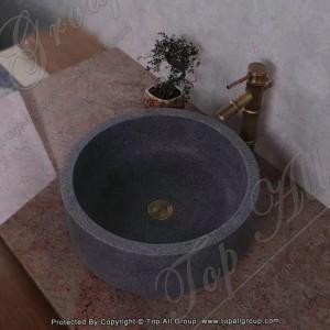 Black Stone Bathroom Vanity Sink TASS-022