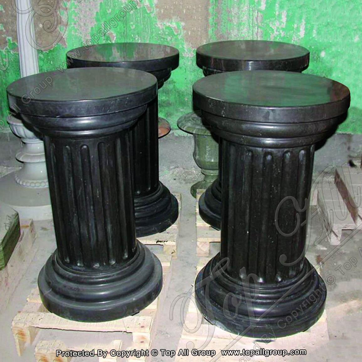 Black marble pillars
