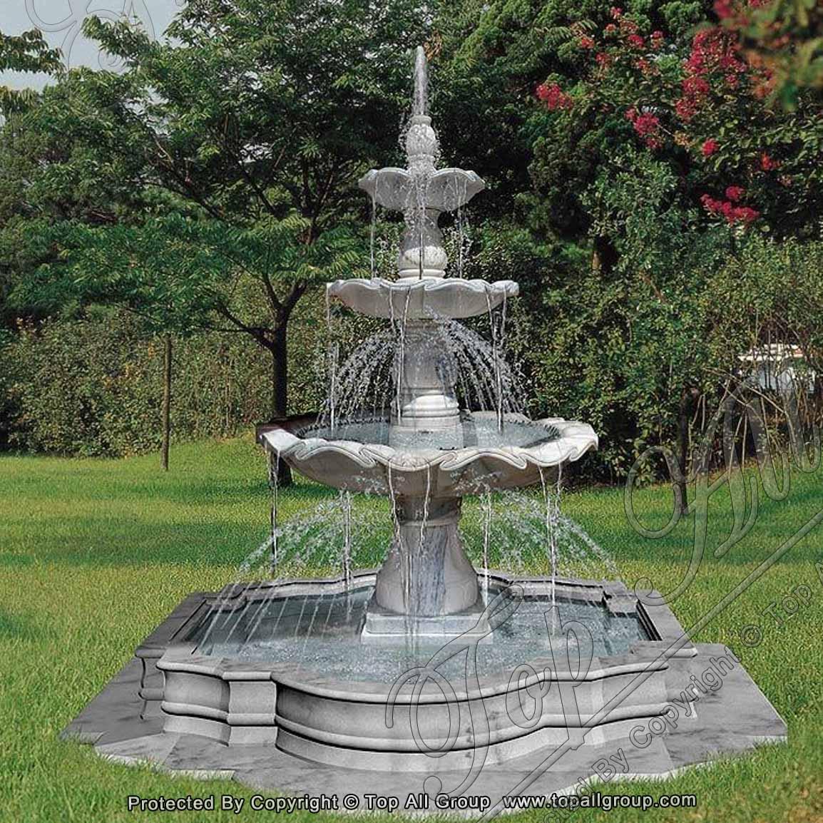 Carrara White Marble Water Fountain