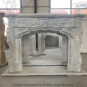 Carrara white marble fireplce mantel TAFM-013