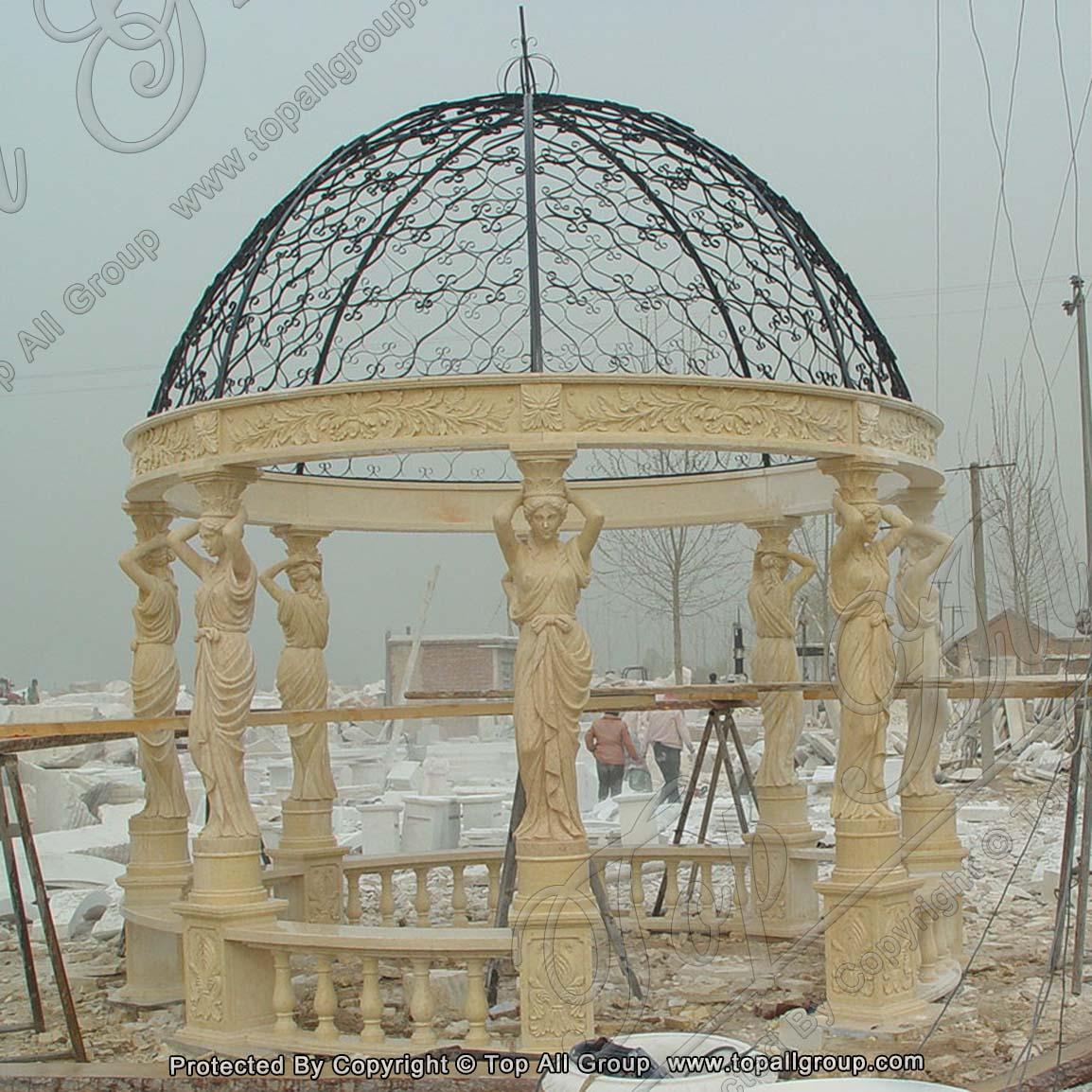Carved Natural Marble Gazebo