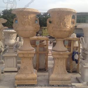Cheap Marble Flower Planter Pots TAFV-043