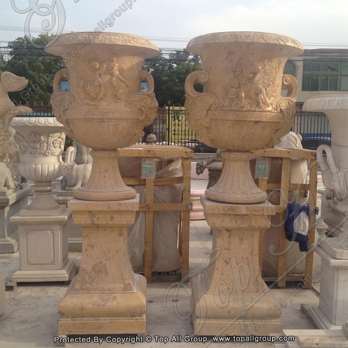 Cheap Marble Flower Planter Pots