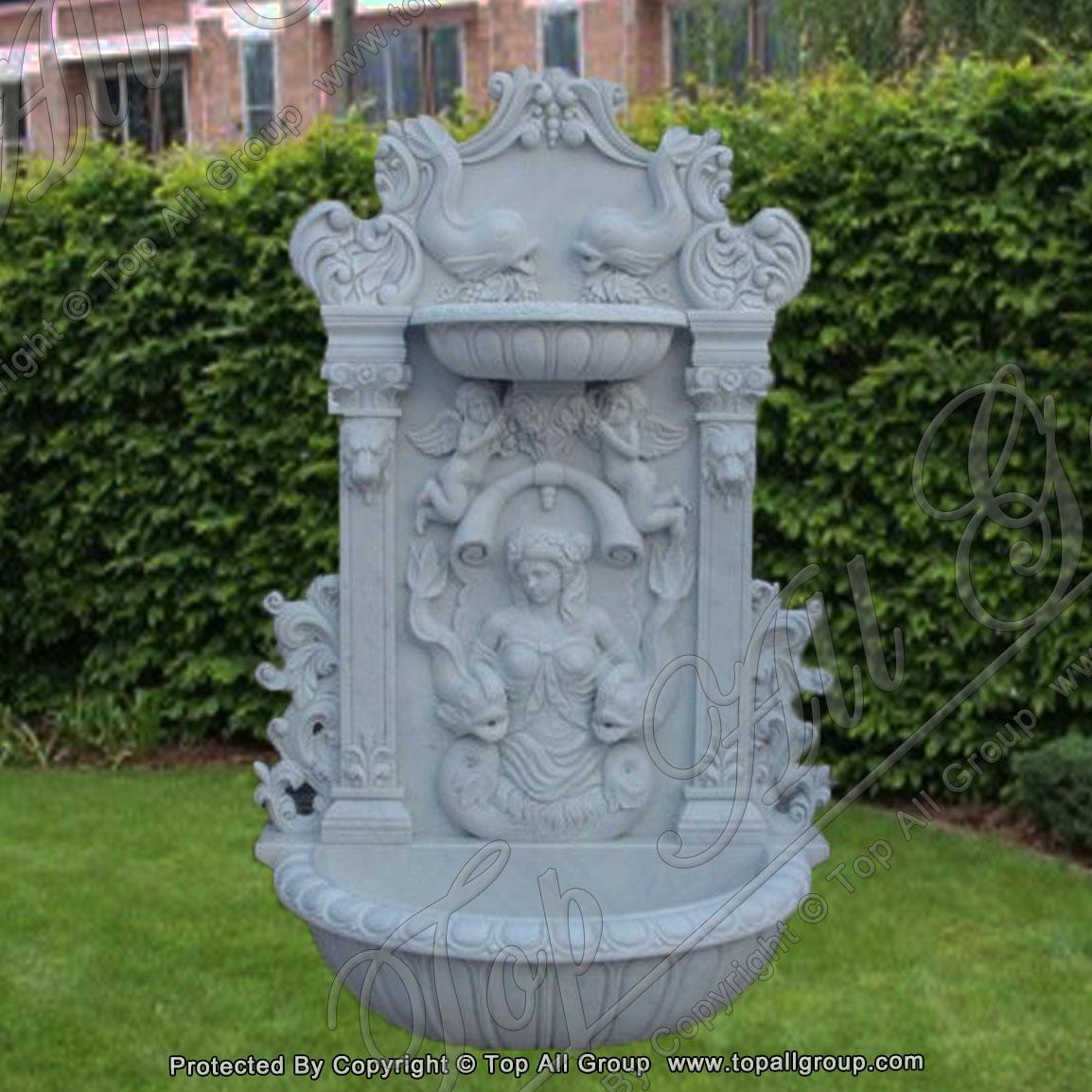 Cherub Statue Wall Fountain
