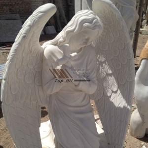 Church Marble Kneeling Angel Statue-024