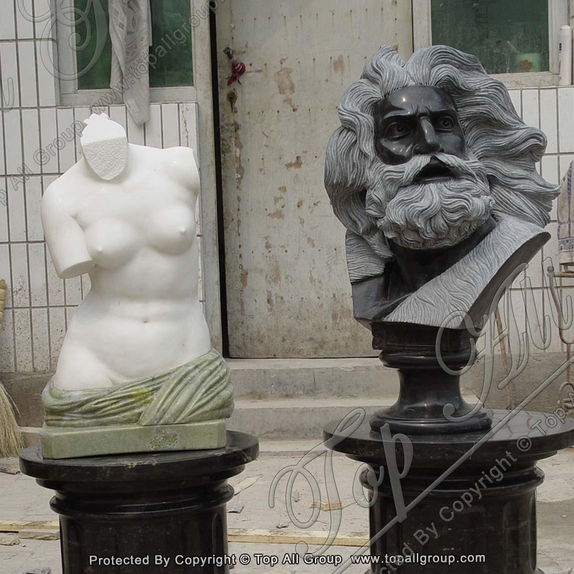 Custom marble bust statue