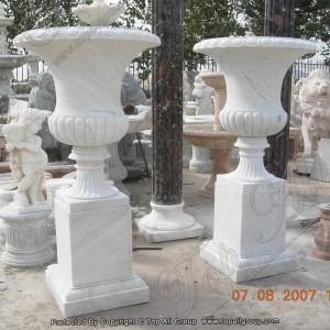 Decorative Garden Western Style Marble Flowerpots TAFV-020