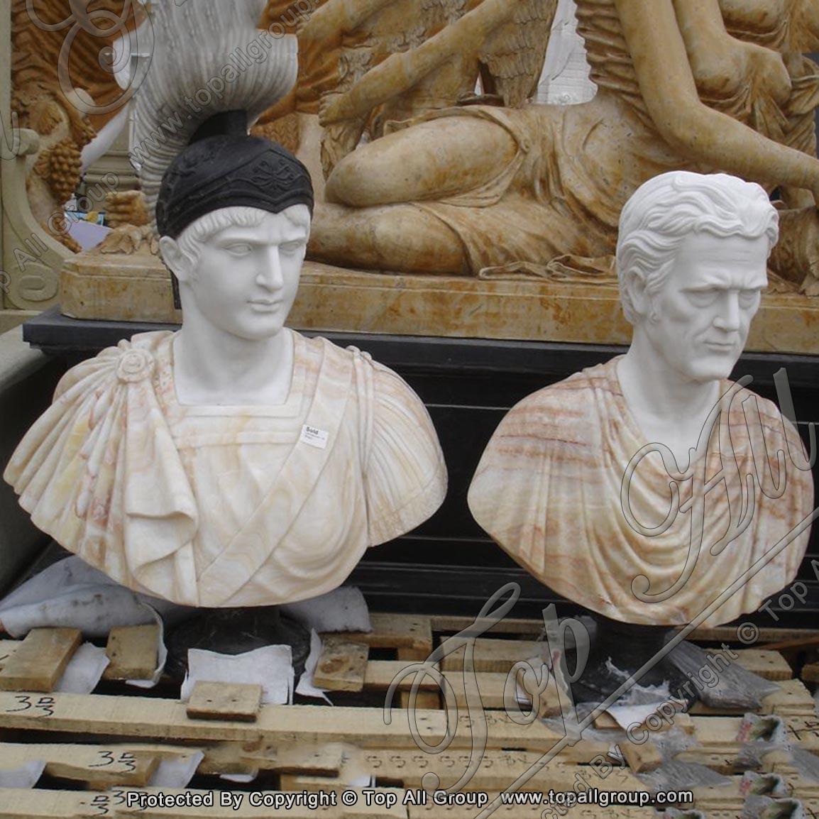 European figure famous marble bust sculpture