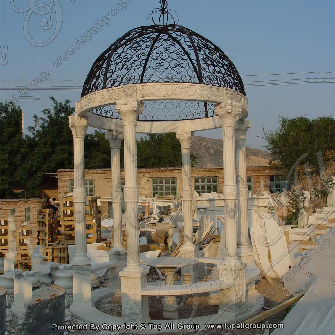 Factory marble gazebo