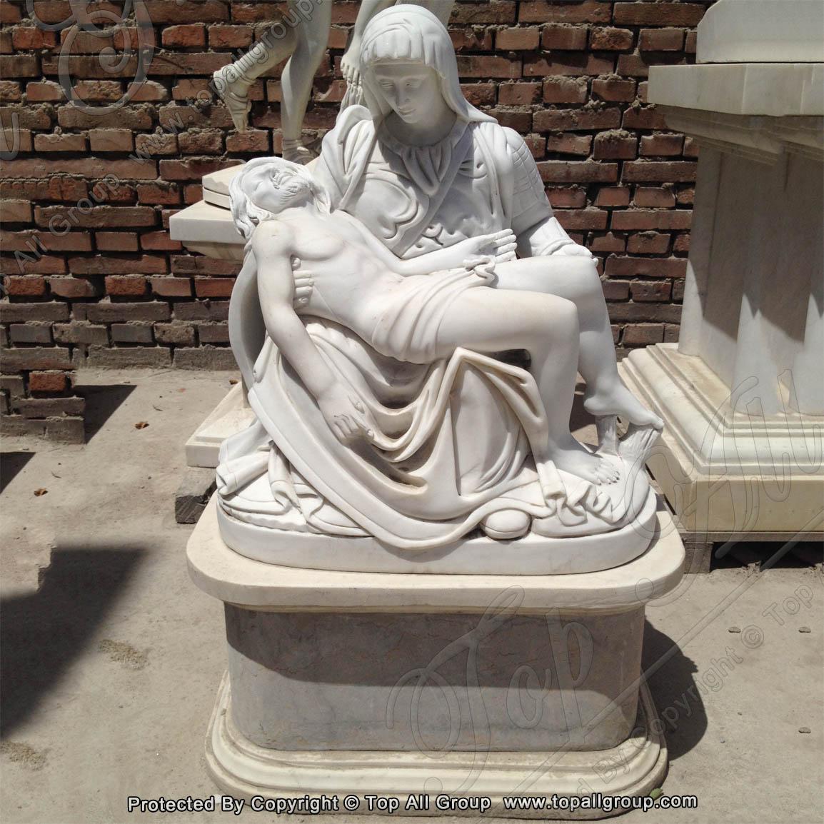 Famous Pieta by Michelangelo marble statue 1