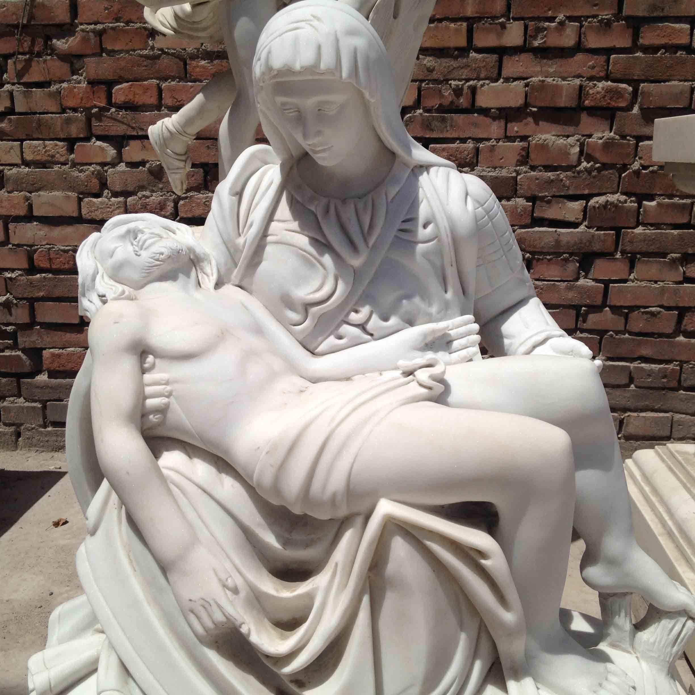 Famous Pieta by Michelangelo marble statue TARS044 detail pictures