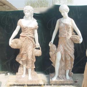 White four season angel marble statue TPFSS-028