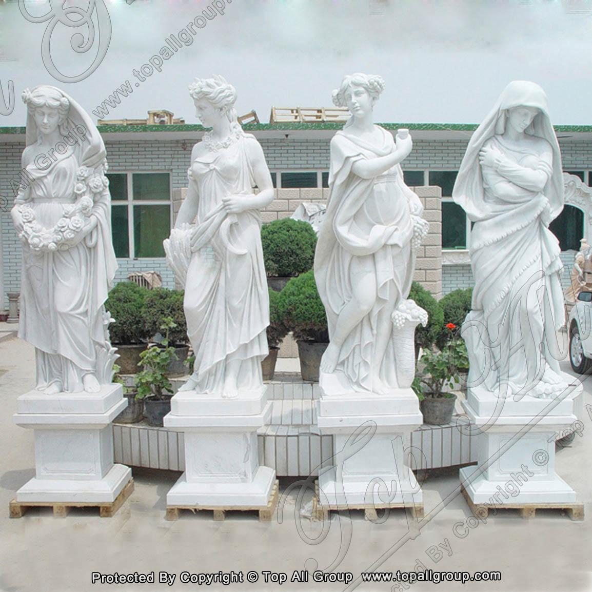 Four Seasons God beauty marble statue 1