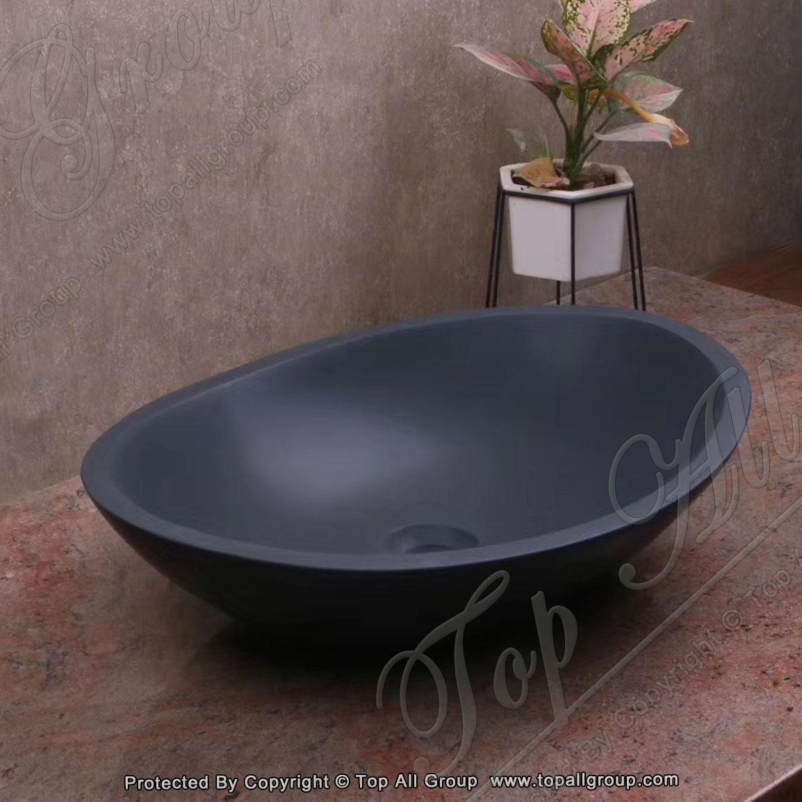 Freestanding Pedestal Bathroom Wash Basin Marble Stone Vanity Sinks
