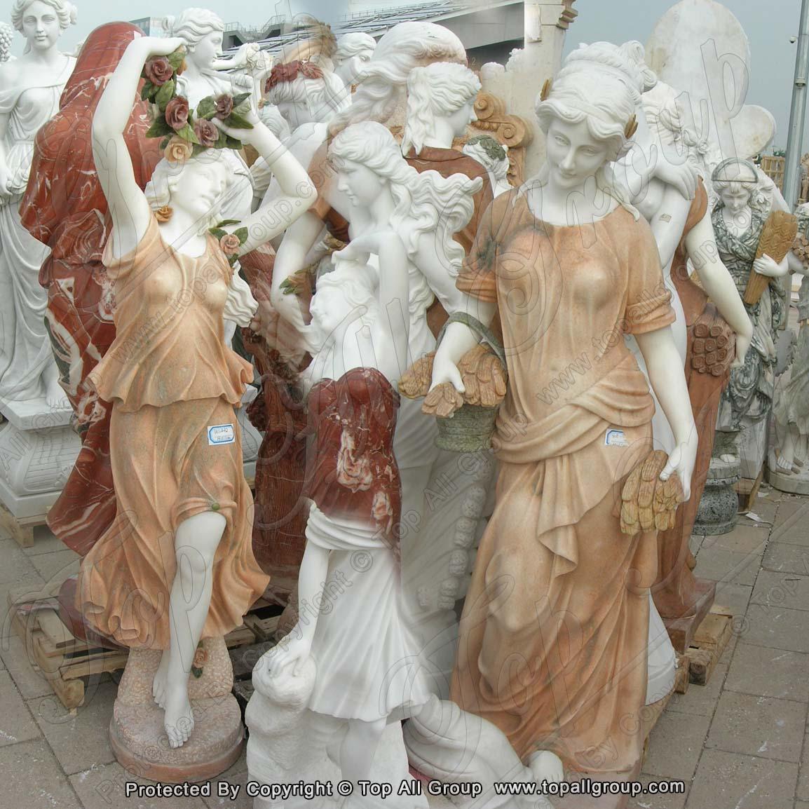 Garden decoration handmade life size The goddess of the four seasons stone marble