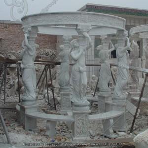 Gazebo With Roman Female Sculpture TAGG-025