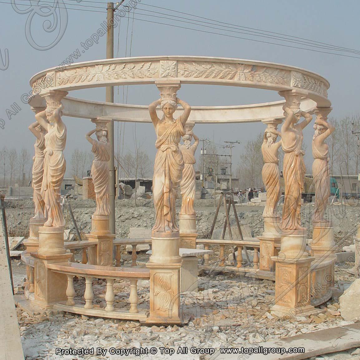 Gazebo with Statue