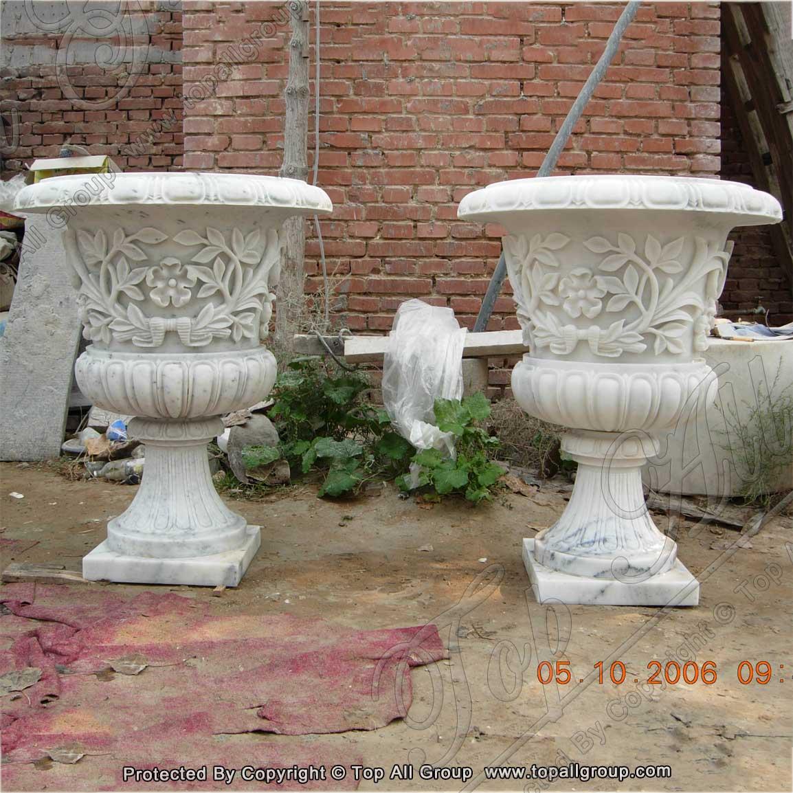 Graden marble flower vase