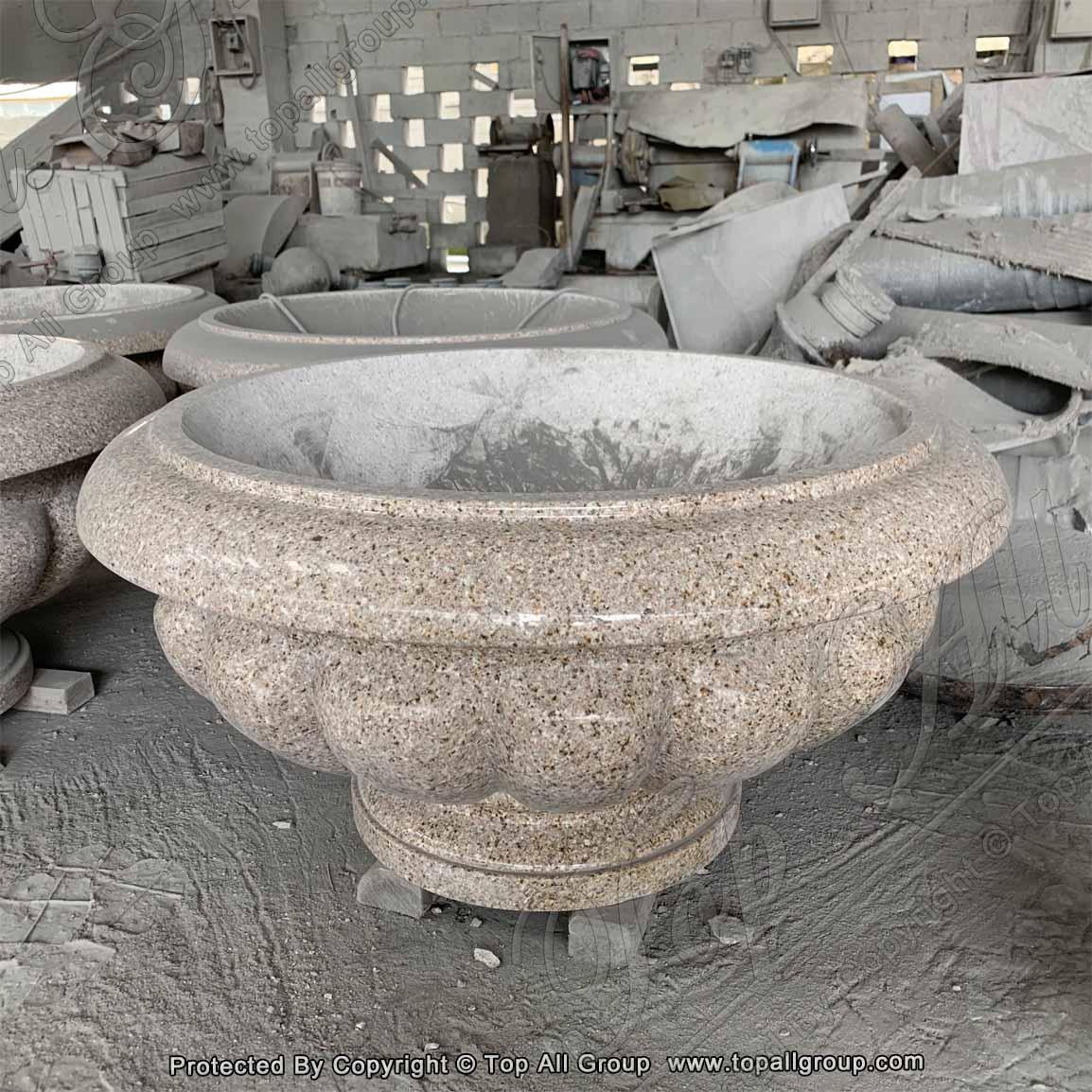 Granite flower vase