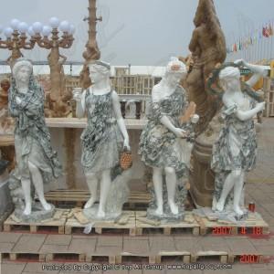Green marble life size four season sculpture TPFSS-008