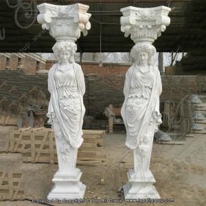Hand Carved Garden Stone Column TAMC-023