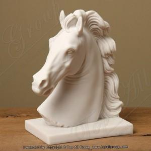 Horse Head White Marble Statue TAAS-001