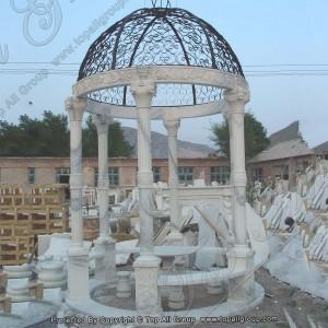 Iron Roof Marble Gazebo TAGG-029