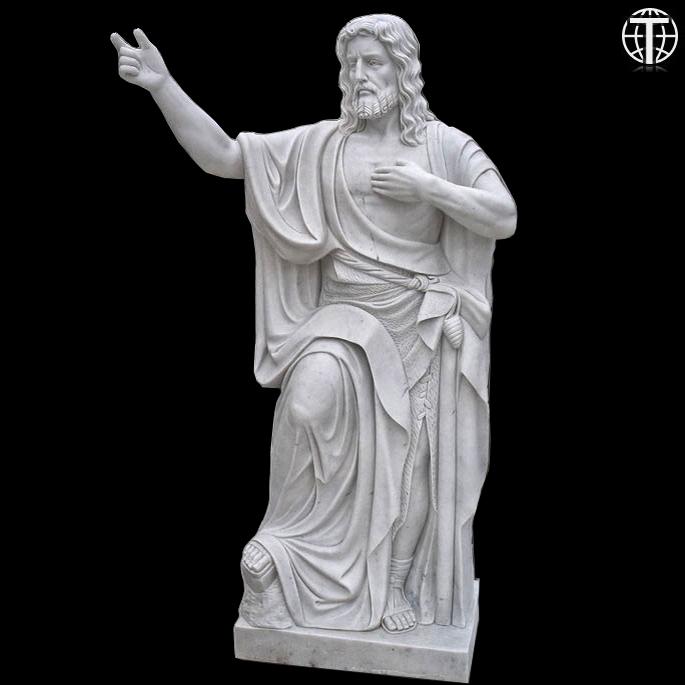 John The Baptist Come Unto Me Marble Statue