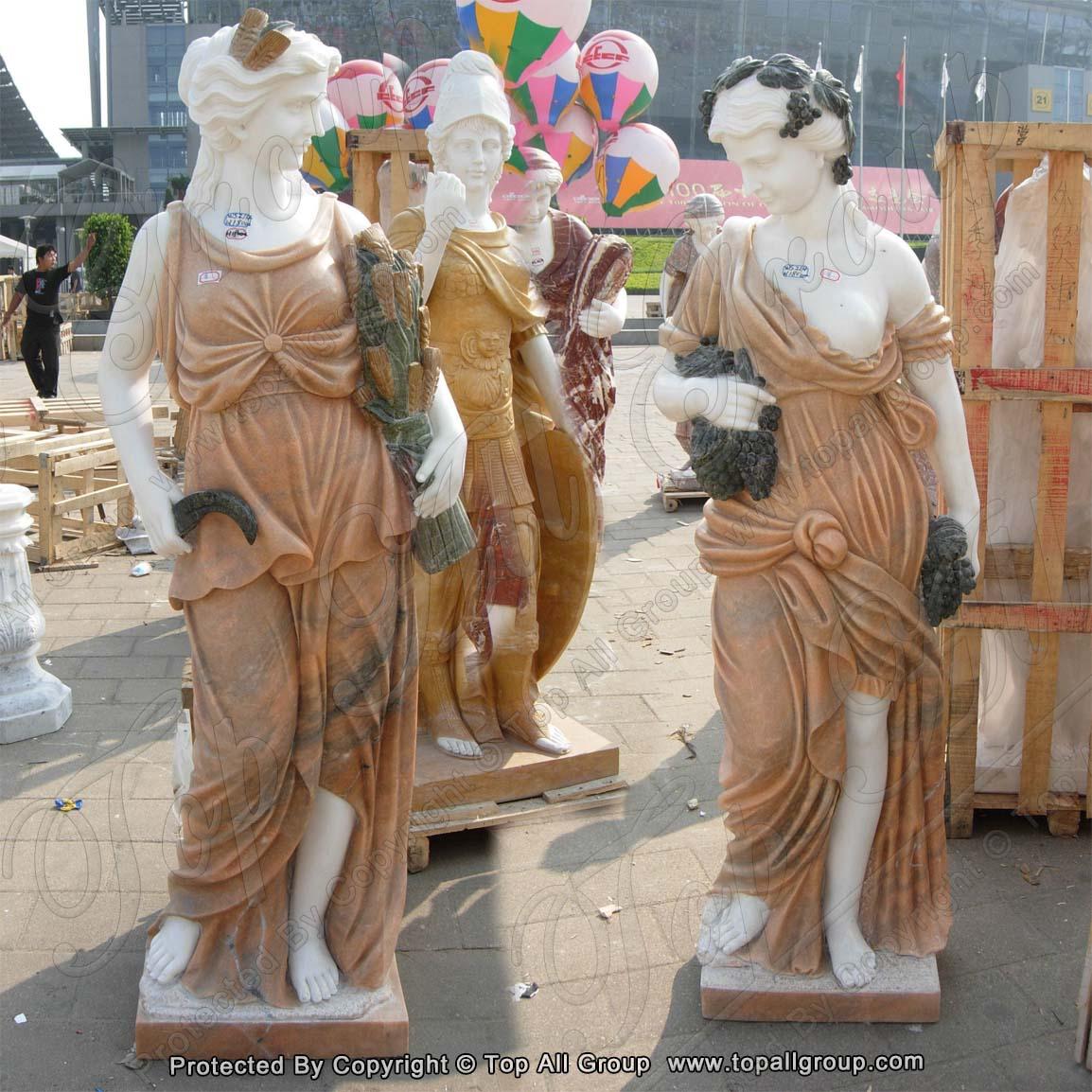 Life Size four season marble statue for garden