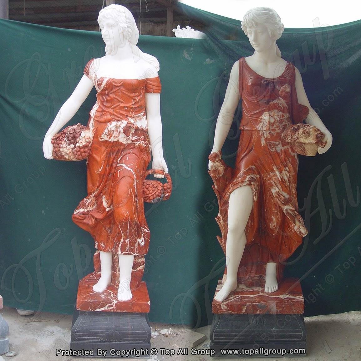 Life size women four season marble sculpture for garden
