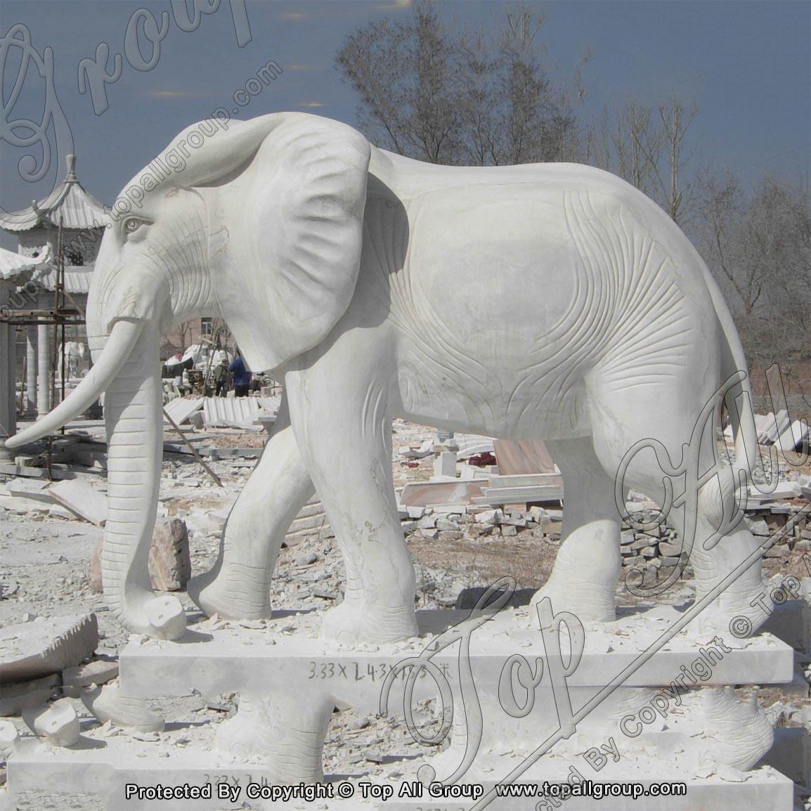 Marble Animal Statue Elephant