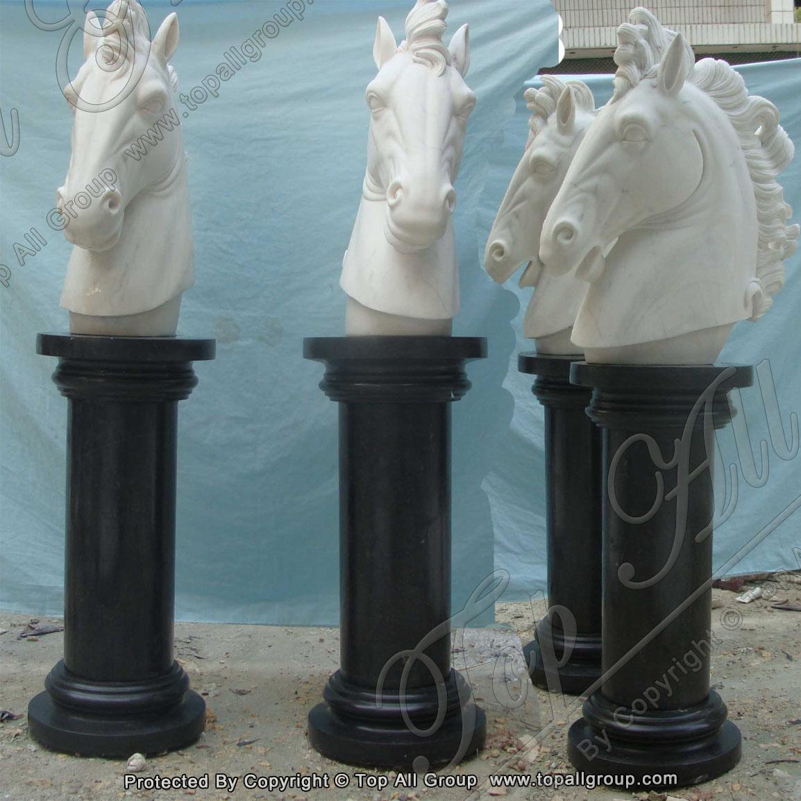 Marble Column and horse head