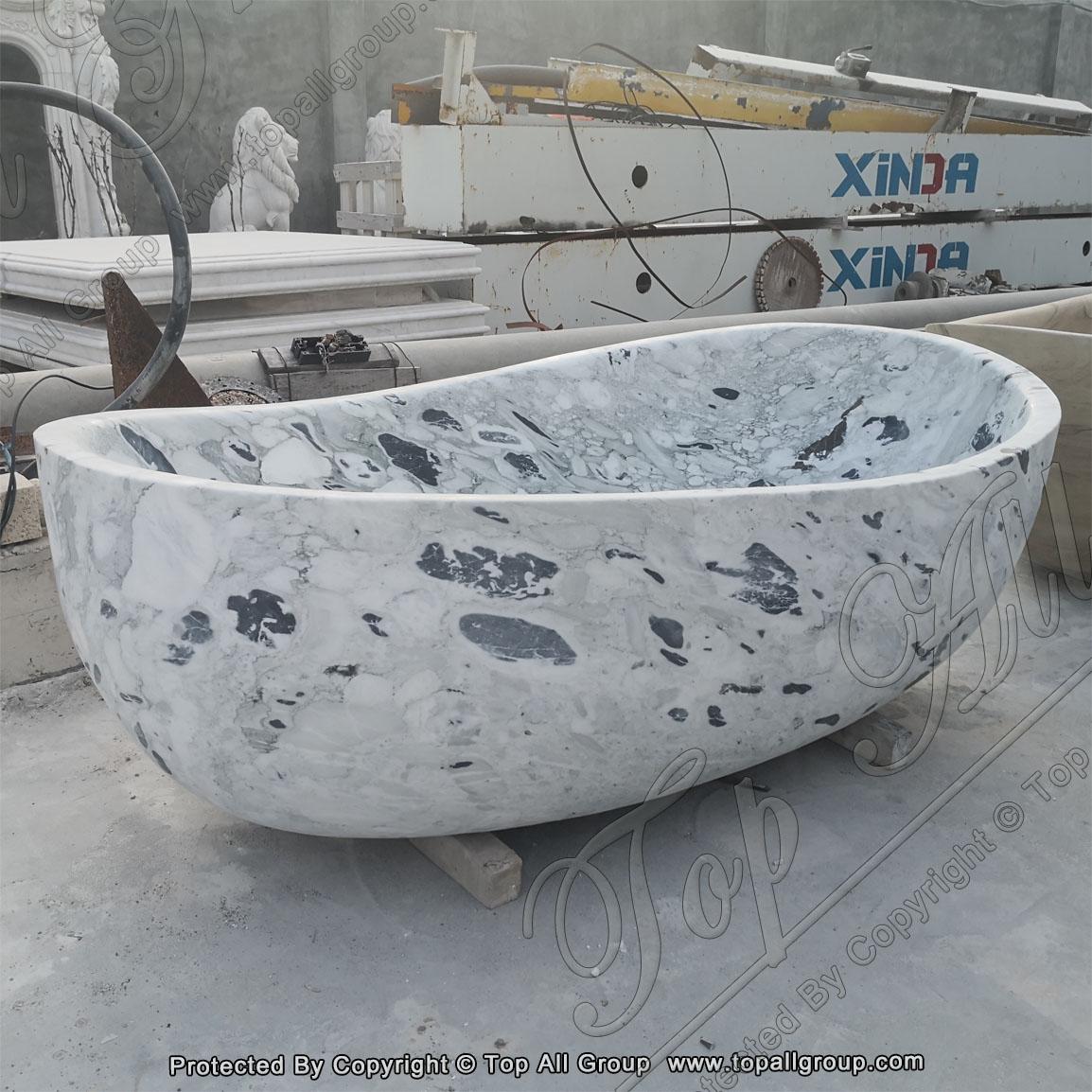 Marble Egg-Shape Bathtub