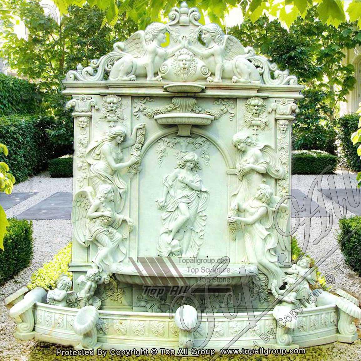 Marble Garden Wall Fountain