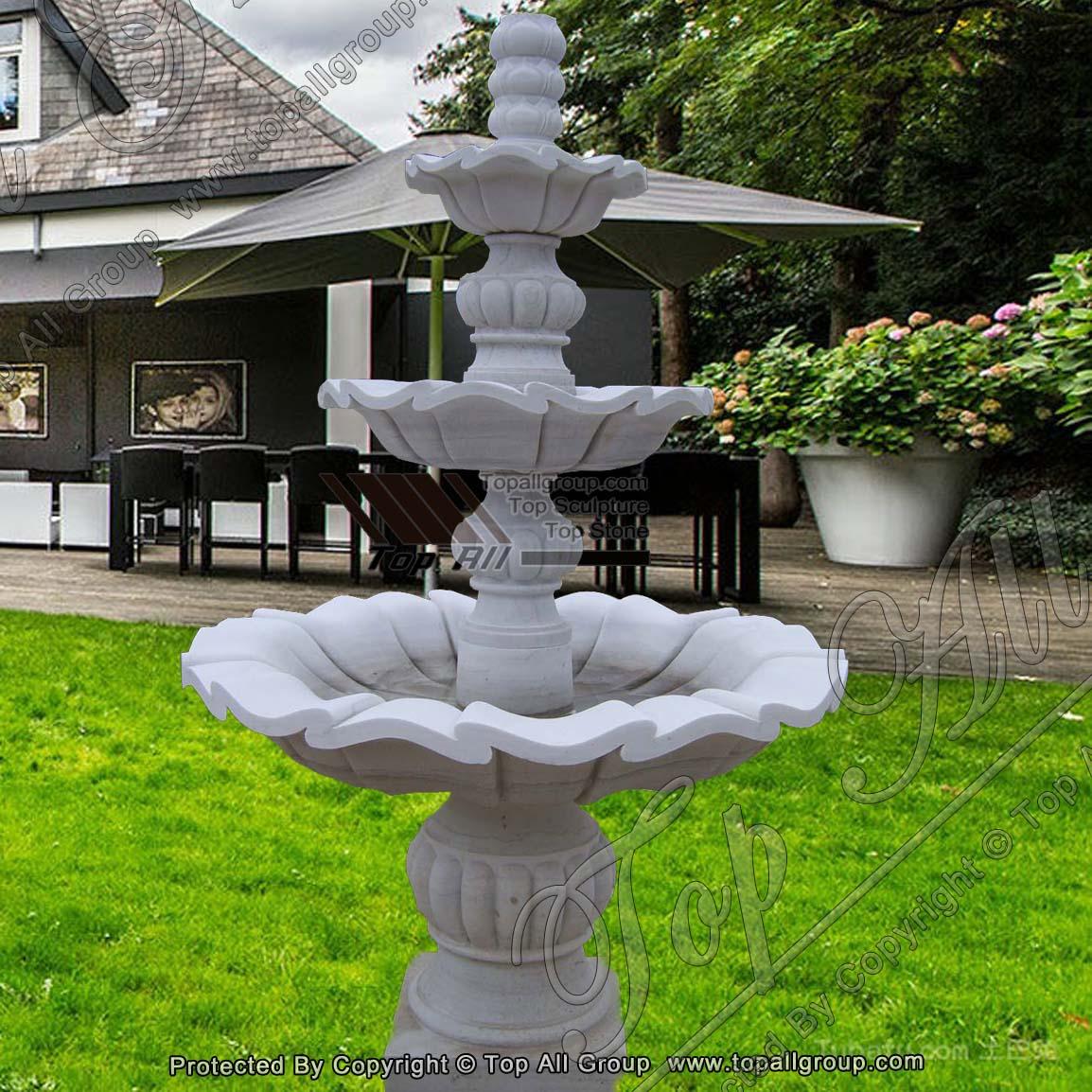 Marble Garden Water Fountain