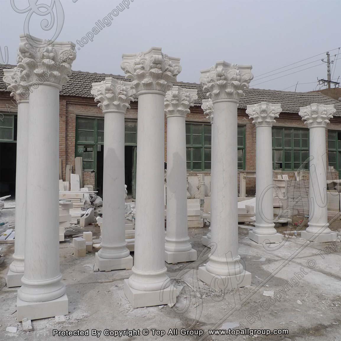 Marble Stone Roman Column