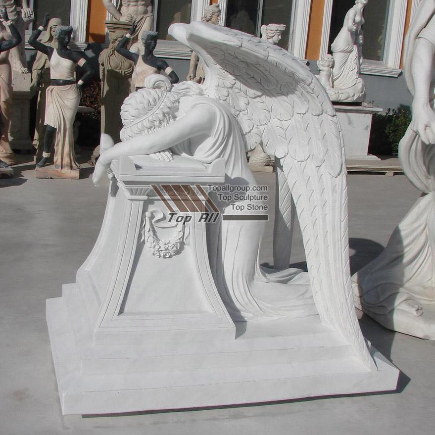 Marble Weeping Angel Statue