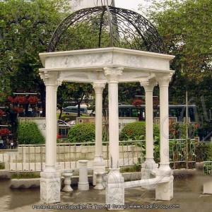 Marble column gazebo TAGG-030