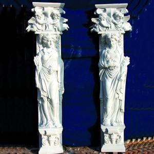Natural Marble Figure Statue Pillar Design TAMC-047